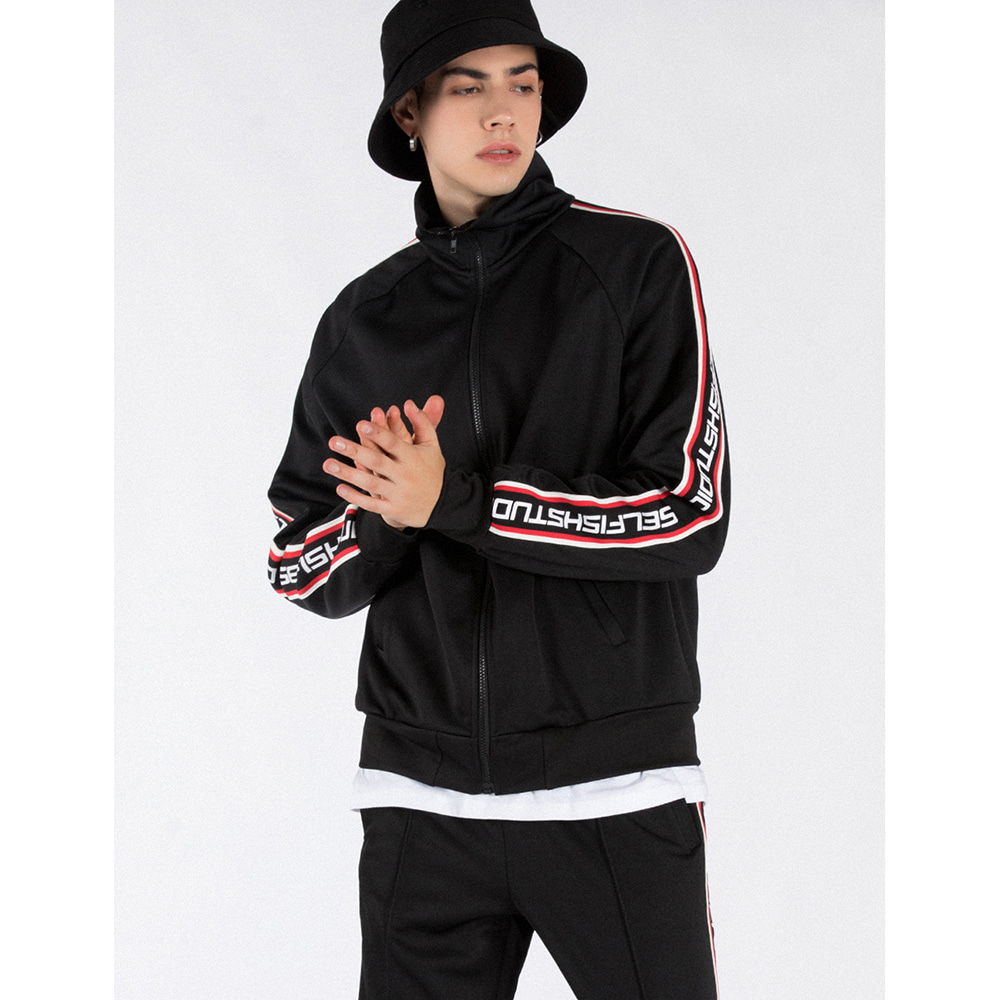 LOGO TAPE TRACK SUIT SET (BLACK)